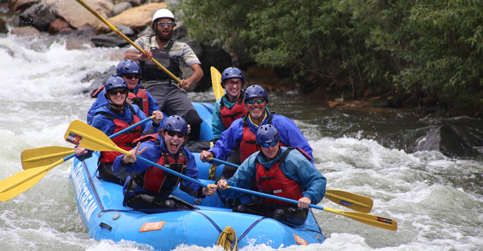 White Water Rafting on Middle Clear Creek | Downstream
